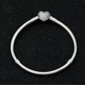 Pandora 925Silver Heart Bangle